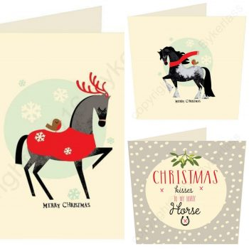 horse Christmas card pack
