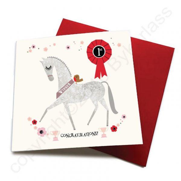 congratulations horse card