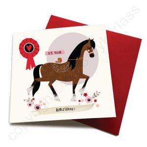 birthday horse card