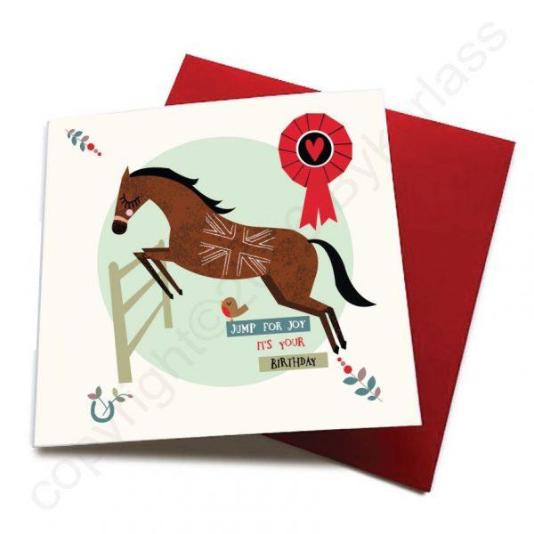 jump for joy horse card