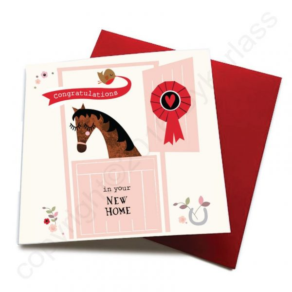 new home horse card