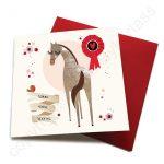 leaving horse card