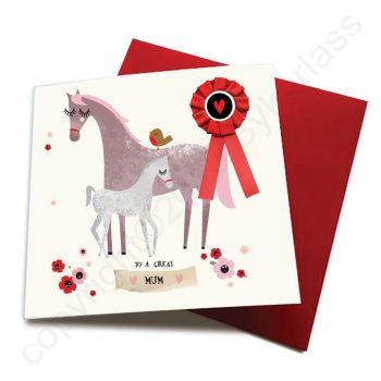 great mum horse card
